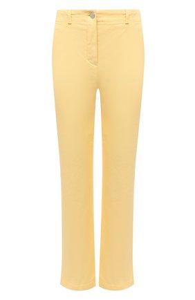 Женские джинсы LORO PIANA желтого цвета, арт. FAL5554   Фото 1 (Силуэт Ж (брюки и джинсы): Прямые; Материал внешний: Хлопок; Кросс-КТ: Деним; Стили: Кэжуэл; Длина (брюки, джинсы): Укороченные)