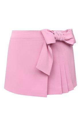 Женская юбка-шорты REDVALENTINO светло-розового цвета, арт. VR3RFE65/2EU   Фото 1 (Стили: Романтичный; Длина Ж (юбки, платья, шорты): Мини; Материал внешний: Вискоза, Синтетический материал; Женское Кросс-КТ: юбка-шорты)