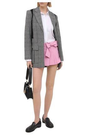 Женская юбка-шорты REDVALENTINO светло-розового цвета, арт. VR3RFE65/2EU   Фото 2 (Стили: Романтичный; Длина Ж (юбки, платья, шорты): Мини; Материал внешний: Вискоза, Синтетический материал; Женское Кросс-КТ: юбка-шорты)