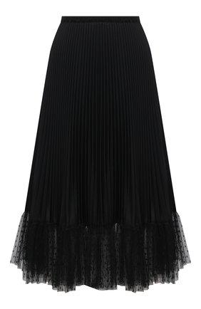 Женская плиссированная юбка REDVALENTINO черного цвета, арт. VR3RAD30/4S9 | Фото 1