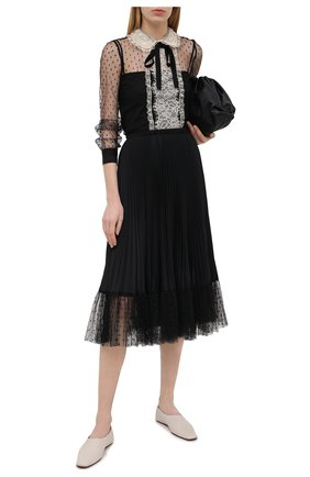 Женская плиссированная юбка REDVALENTINO черного цвета, арт. VR3RAD30/4S9 | Фото 2