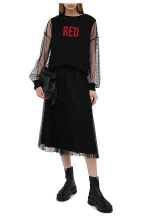 Женская юбка REDVALENTINO черного цвета, арт. VR3RAC20/428 | Фото 2