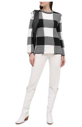 Женский свитер REDVALENTINO черно-белого цвета, арт. VR3KC06H/5NC   Фото 2