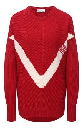 Женский свитер REDVALENTINO красного цвета, арт. VR3KC06D/5NF | Фото 1