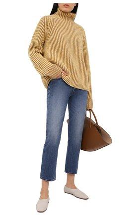 Женский кашемировый свитер LORO PIANA желтого цвета, арт. FAL4054   Фото 2