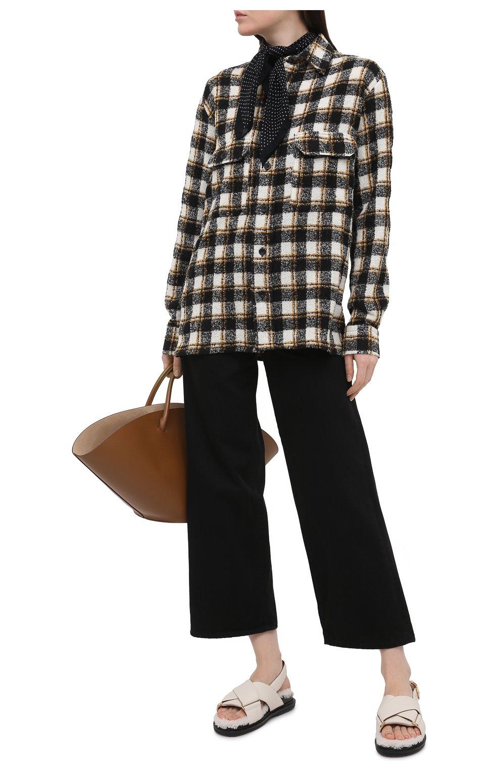 Женские джинсы TOTÊME черного цвета, арт. 211-230-744   Фото 2