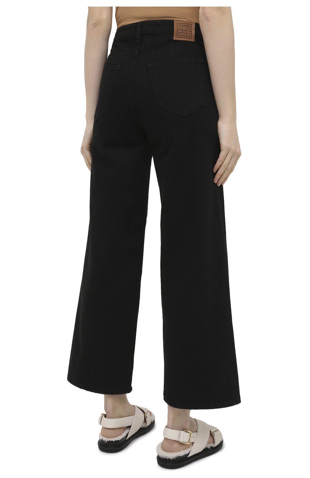 Женские джинсы TOTÊME черного цвета, арт. 211-230-744   Фото 4