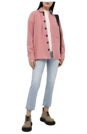 Женские джинсы TOTÊME голубого цвета, арт. 211-232-742 | Фото 2