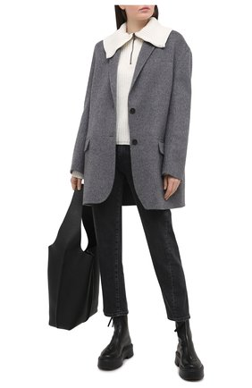 Женские джинсы TOTÊME темно-серого цвета, арт. 211-232-743 | Фото 2