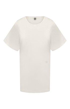 Женская хлопковая футболка TOTÊME белого цвета, арт. 211-439-770 | Фото 1