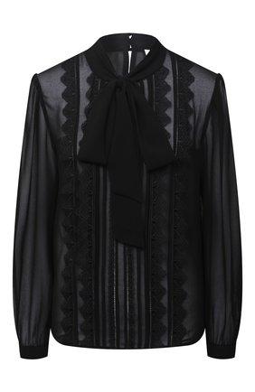 Женская блузка SELF-PORTRAIT черного цвета, арт. RS21-130T | Фото 1