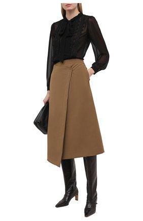 Женская блузка SELF-PORTRAIT черного цвета, арт. RS21-130T | Фото 2