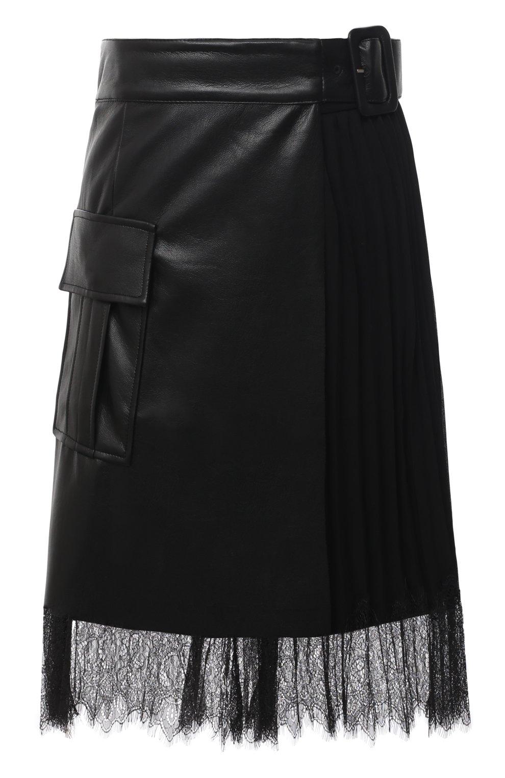 Женская юбка SELF-PORTRAIT черного цвета, арт. RS21-089 | Фото 1
