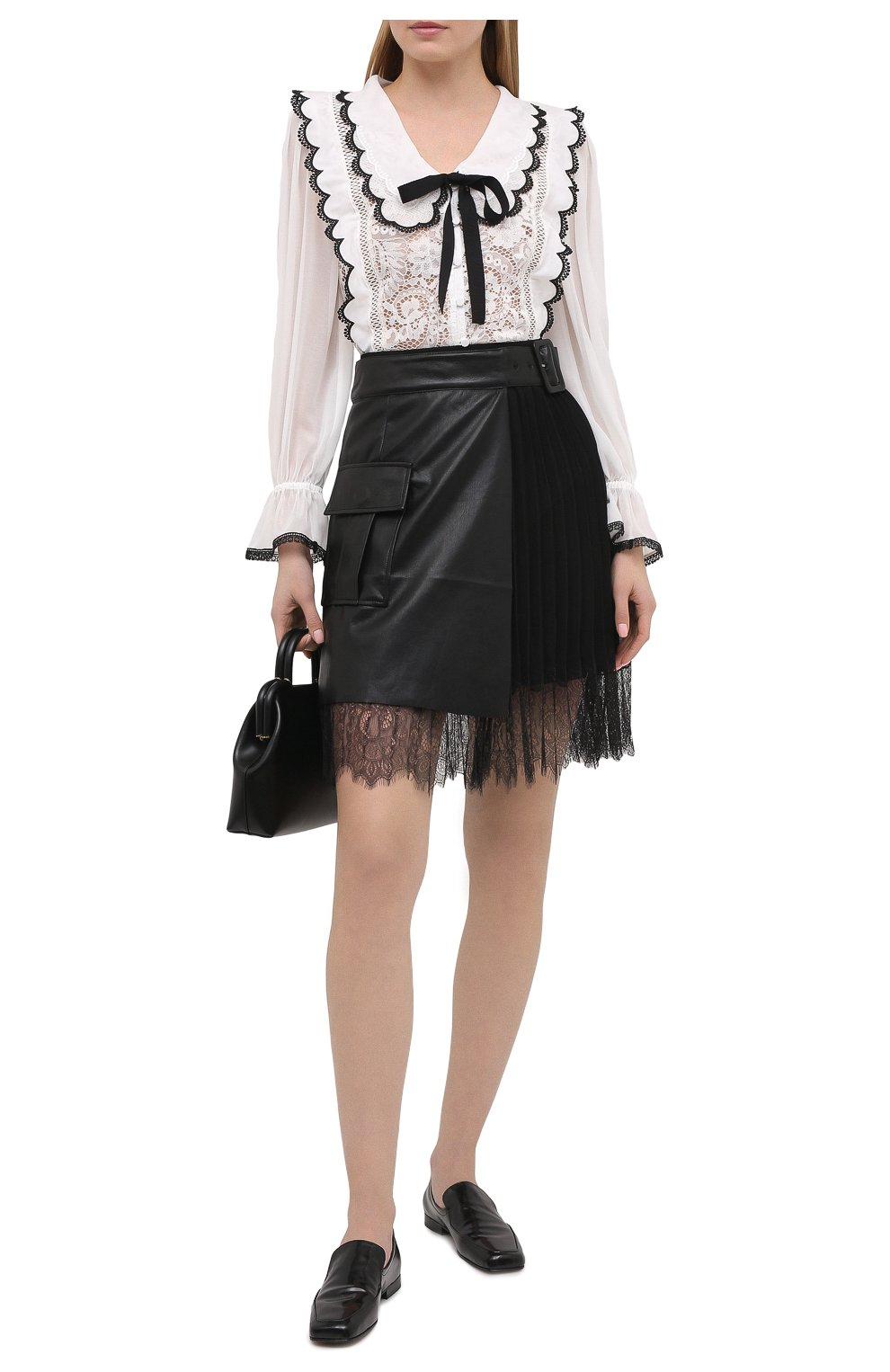 Женская юбка SELF-PORTRAIT черного цвета, арт. RS21-089 | Фото 2
