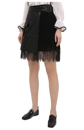Женская юбка SELF-PORTRAIT черного цвета, арт. RS21-089 | Фото 3