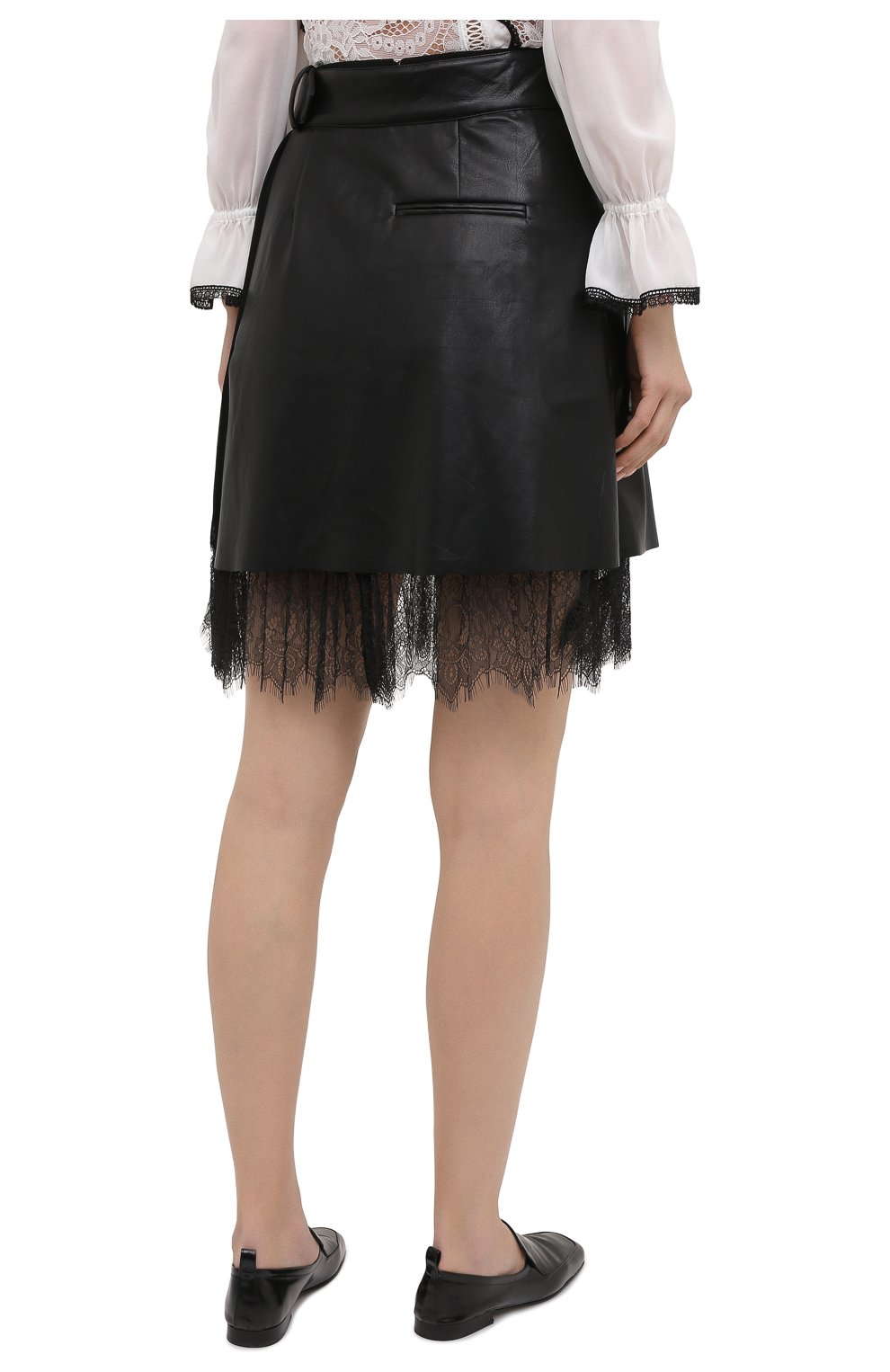 Женская юбка SELF-PORTRAIT черного цвета, арт. RS21-089 | Фото 4