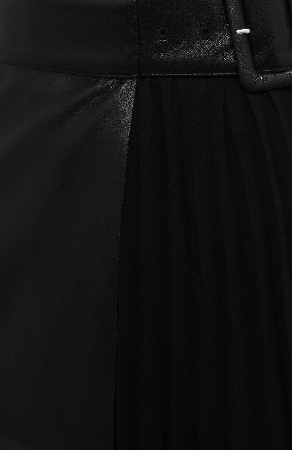 Женская юбка SELF-PORTRAIT черного цвета, арт. RS21-089 | Фото 5