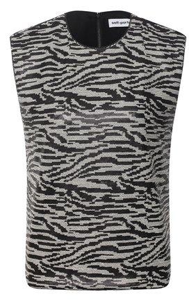 Женский топ SELF-PORTRAIT черного цвета, арт. RS21-068S | Фото 1