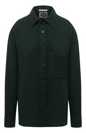 Женская шерстяная рубашка DESTIN зеленого цвета, арт. D5W0MAT/W0RKER S0LID FLEECY   Фото 1