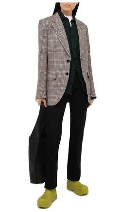 Женская шерстяная рубашка DESTIN зеленого цвета, арт. D5W0MAT/W0RKER S0LID FLEECY   Фото 2