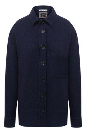 Женская шерстяная рубашка DESTIN синего цвета, арт. D5W0MAT/W0RKER S0LID FLEECY   Фото 1