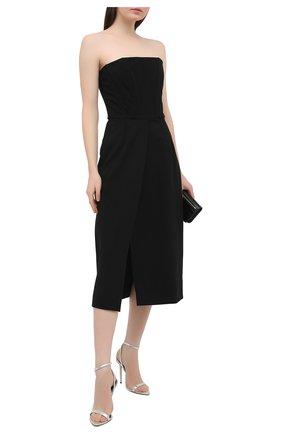 Женские кожаные босоножки TOM FORD серого цвета, арт. W2272S-LSP014 | Фото 2