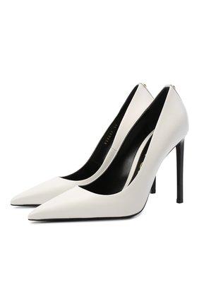 Женские кожаные туфли t-screw TOM FORD белого цвета, арт. W2325T-LCL002 | Фото 1