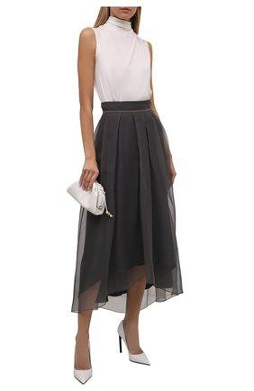 Женские кожаные туфли t-screw TOM FORD белого цвета, арт. W2325T-LCL002 | Фото 2