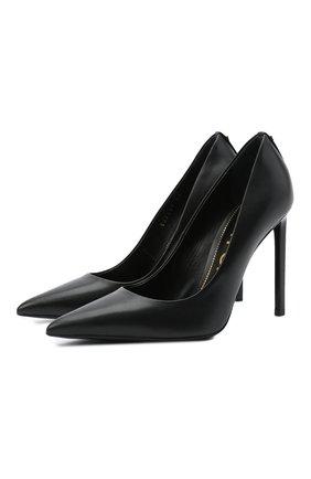 Женские кожаные туфли t-screw TOM FORD черного цвета, арт. W2325T-LCL002 | Фото 1