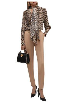 Женские кожаные туфли t-screw TOM FORD черного цвета, арт. W2325T-LCL002 | Фото 2 (Материал внутренний: Натуральная кожа; Каблук высота: Высокий; Каблук тип: Шпилька; Подошва: Плоская)
