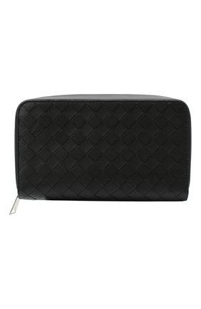 Мужской кожаный футляр для документов BOTTEGA VENETA черного цвета, арт. 650524/VCPQ3 | Фото 1