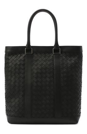 Мужская кожаная сумка-тоут BOTTEGA VENETA черного цвета, арт. 650516/V0E51 | Фото 1