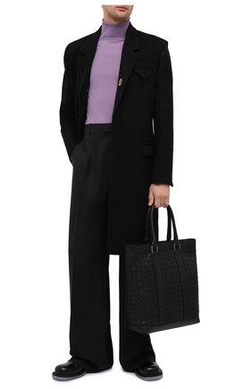 Мужская кожаная сумка-тоут BOTTEGA VENETA черного цвета, арт. 650516/V0E51 | Фото 2