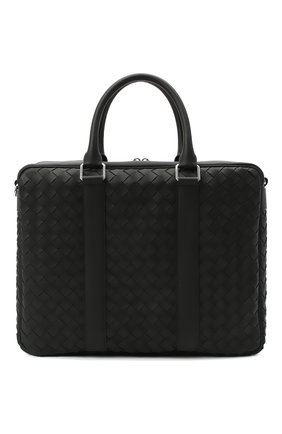 Мужская кожаная сумка для ноутбука BOTTEGA VENETA черного цвета, арт. 650372/V0E51 | Фото 1