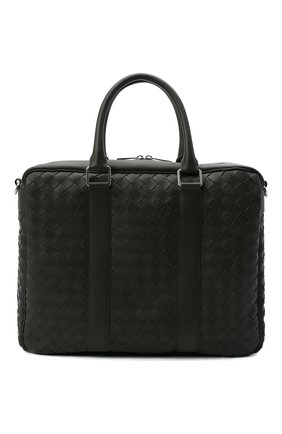 Мужская кожаная сумка для ноутбука BOTTEGA VENETA хаки цвета, арт. 650372/V0E51 | Фото 1