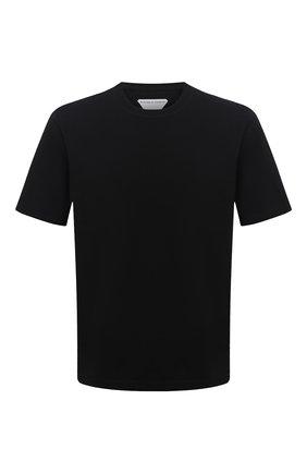 Мужская хлопковая футболка BOTTEGA VENETA черного цвета, арт. 649055/VF1U0 | Фото 1