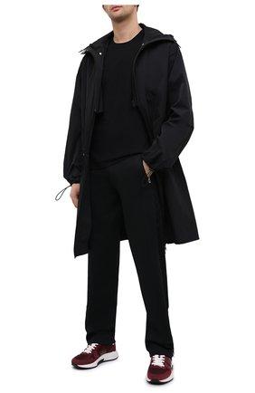 Мужская хлопковая футболка BOTTEGA VENETA черного цвета, арт. 649055/VF1U0 | Фото 2 (Принт: Без принта; Рукава: Короткие; Длина (для топов): Стандартные; Материал внешний: Хлопок; Стили: Минимализм)