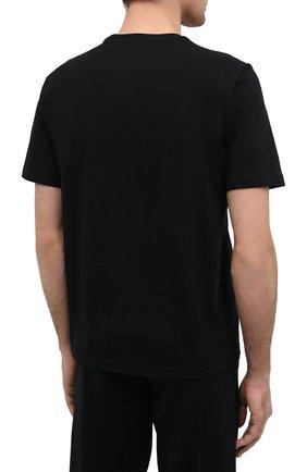 Мужская хлопковая футболка BOTTEGA VENETA черного цвета, арт. 649055/VF1U0 | Фото 4 (Принт: Без принта; Рукава: Короткие; Длина (для топов): Стандартные; Материал внешний: Хлопок; Стили: Минимализм)