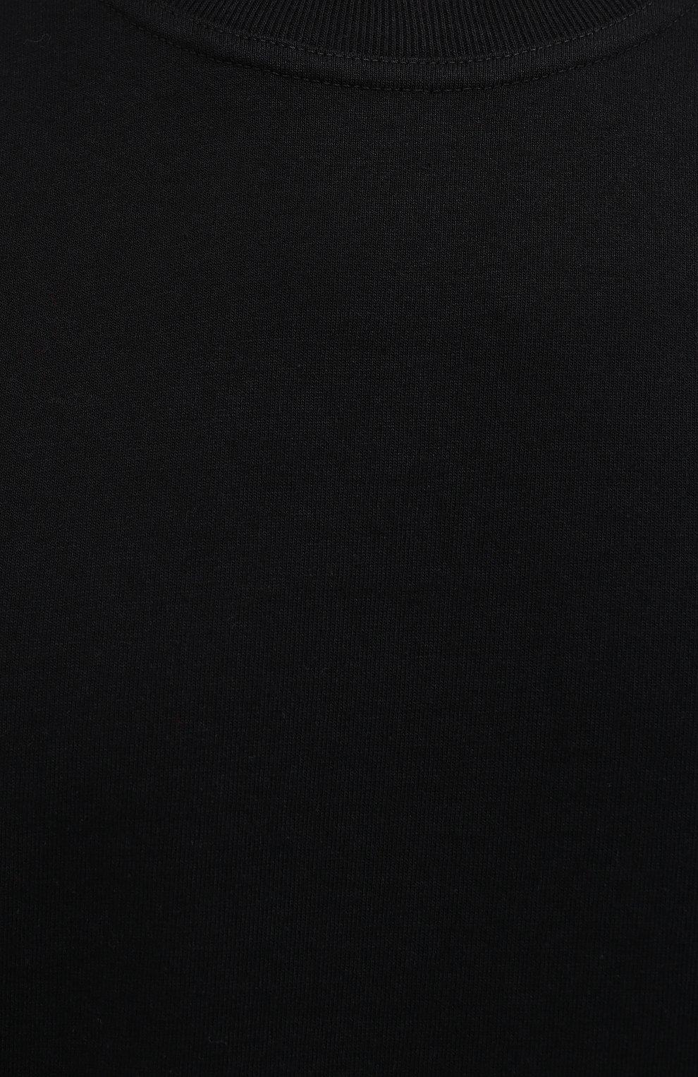 Мужская хлопковая футболка BOTTEGA VENETA черного цвета, арт. 649055/VF1U0 | Фото 5 (Принт: Без принта; Рукава: Короткие; Длина (для топов): Стандартные; Материал внешний: Хлопок; Стили: Минимализм)