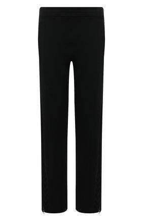 Мужские брюки BOTTEGA VENETA черного цвета, арт. 648998/V0C10 | Фото 1 (Длина (брюки, джинсы): Стандартные; Материал внешний: Вискоза, Синтетический материал; Случай: Повседневный; Стили: Спорт-шик)