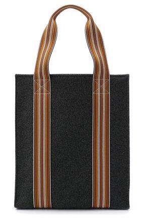 Женский сумка-шопер suitcase stripe LORO PIANA темно-серого цвета, арт. FAL4563 | Фото 1 (Размер: large; Сумки-технические: Сумки-шопперы; Материал: Текстиль)