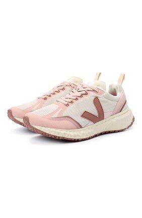 Женские текстильные кроссовки VEJA светло-розового цвета, арт. CD012249A   Фото 1
