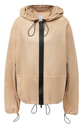 Женская кожаная куртка BOTTEGA VENETA бежевого цвета, арт. 652799/V0IT0   Фото 1
