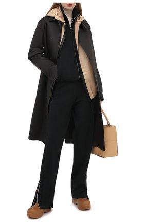 Женская кожаная куртка BOTTEGA VENETA бежевого цвета, арт. 652799/V0IT0   Фото 2