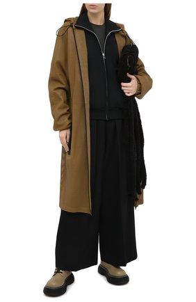 Женский кожаный плащ BOTTEGA VENETA зеленого цвета, арт. 652796/V0IT0 | Фото 2