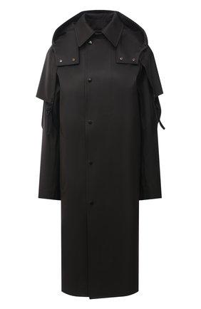 Женский хлопковый тренч BOTTEGA VENETA темно-коричневого цвета, арт. 642513/V08V0 | Фото 1