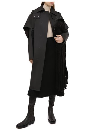 Женский хлопковый тренч BOTTEGA VENETA темно-коричневого цвета, арт. 642513/V08V0 | Фото 2