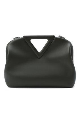 Женская сумка point BOTTEGA VENETA зеленого цвета, арт. 652446/VCP40 | Фото 1