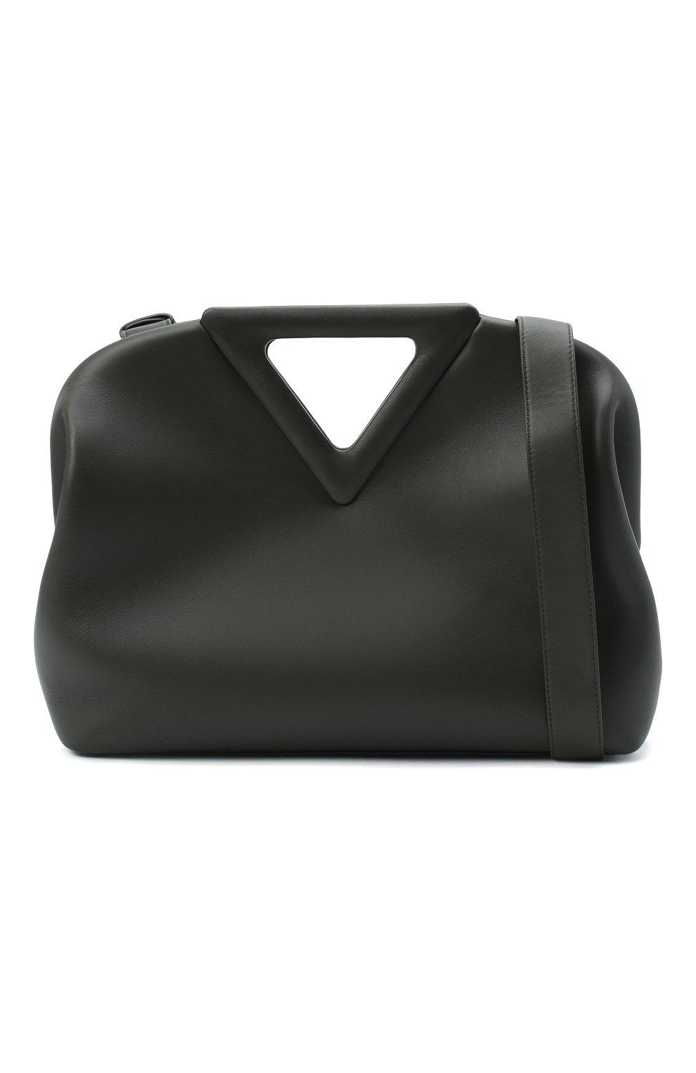 Женская сумка point BOTTEGA VENETA зеленого цвета, арт. 652446/VCP40   Фото 5
