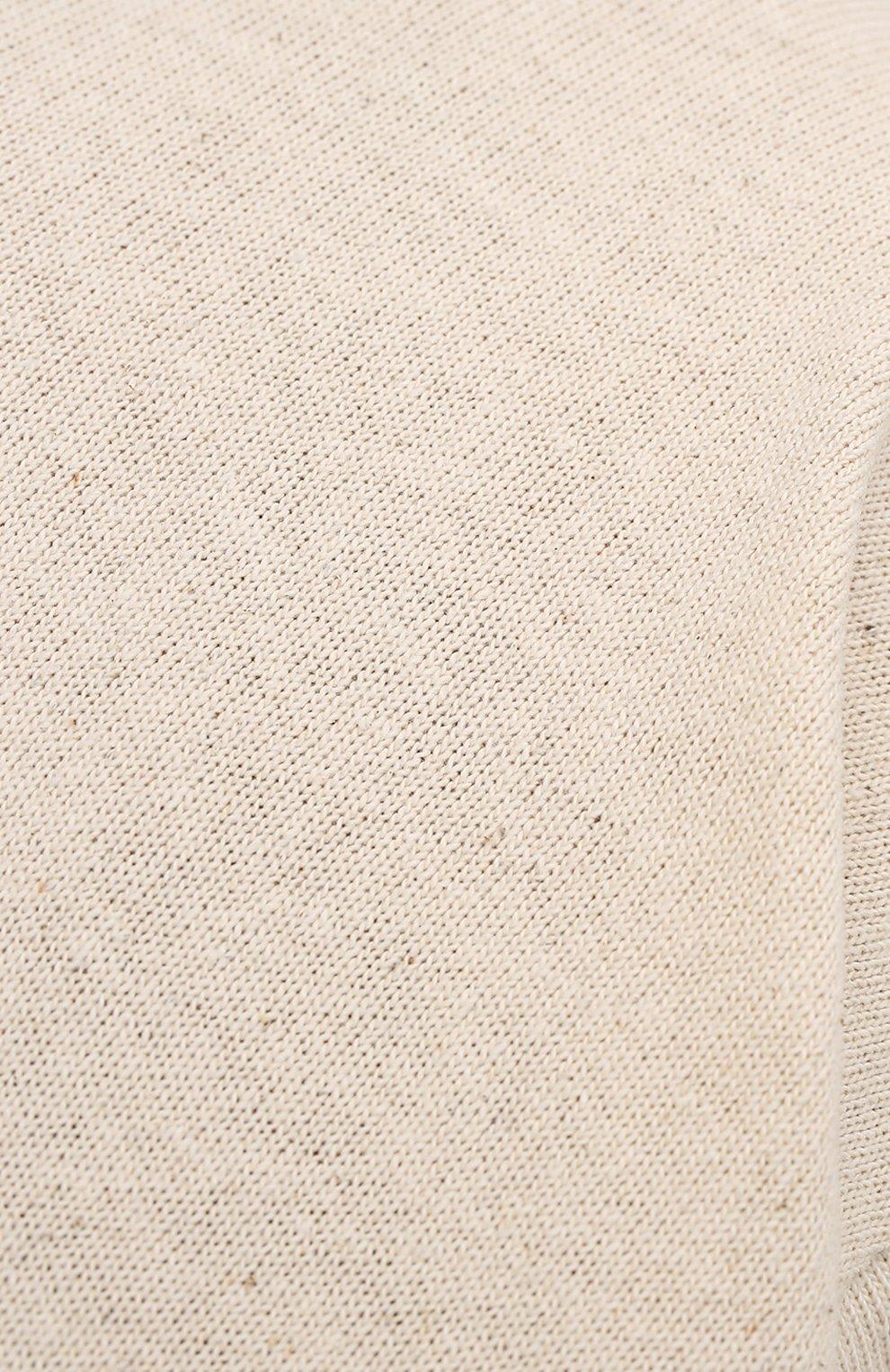Женская хлопковая футболка BOTTEGA VENETA светло-бежевого цвета, арт. 648233/V0I50 | Фото 5
